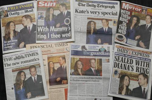 Britský tisk plný královských zásnub