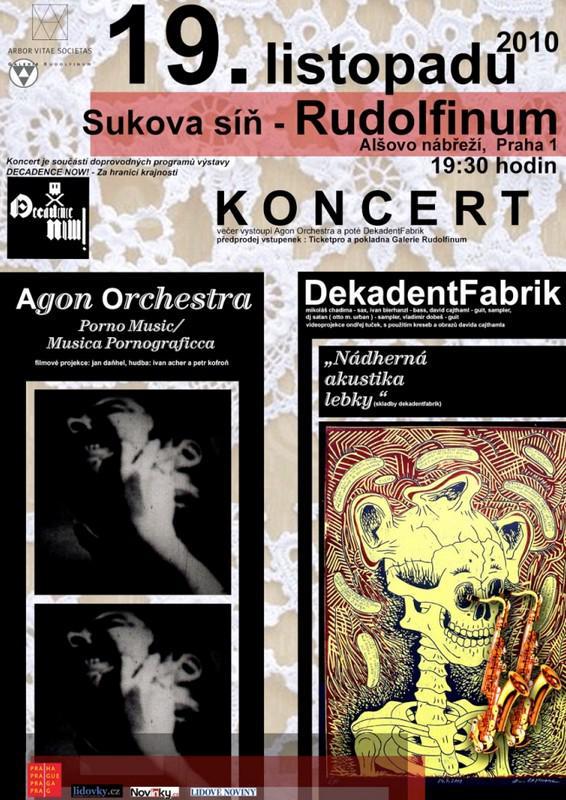 Decadence Now! - plakát na koncert
