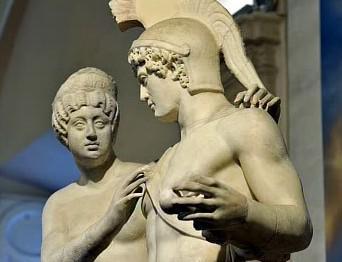 Socha Venuše a Marta