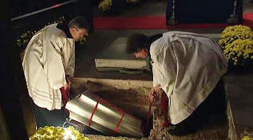 Ukládání ostatků Tycha Braha