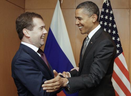 Medvěděv a Obama