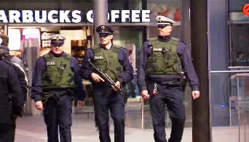 Německé policejní hlídky