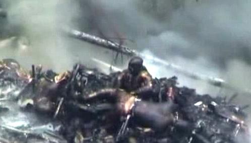 Následky letecké nehody v Indii