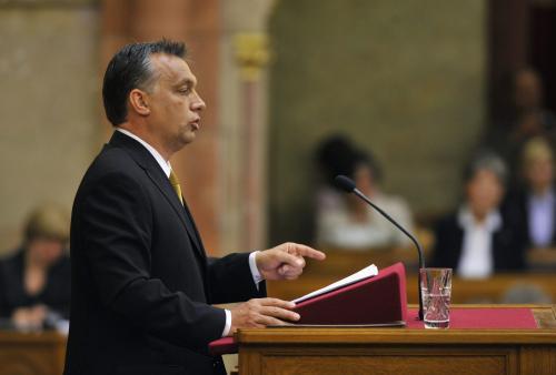 Viktor Orbán v parlamentu