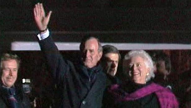 George Bush st.v Praze 17. 11. 1990
