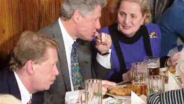 Bill Clinton na návštěvě Prahy