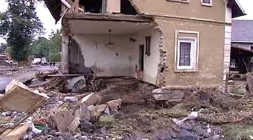 Dům rozbořený po povodních
