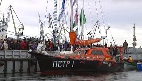 Loď Petr I. po návratu do Petrohradu