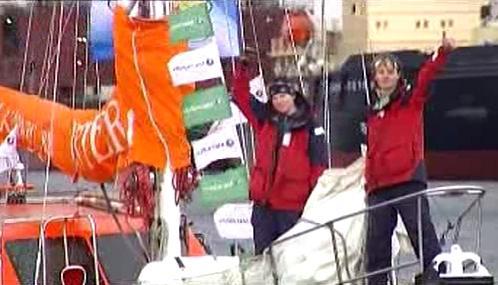 Ruští mořeplavci po návratu do Petrohradu