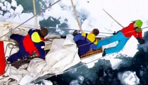 Ruští mořeplavci na lodi Petr I.