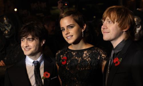 Daniel Radcliffe, Emma Watsonová a Rupert Grint