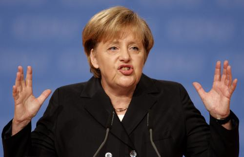 Angela Merkelová na volebním sjezdu CDU