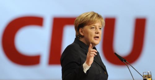 Angela Merkelová obhajuje post předsedkyně CDU