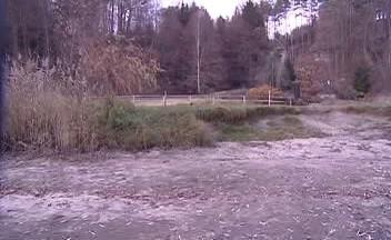 Rybník za plotem