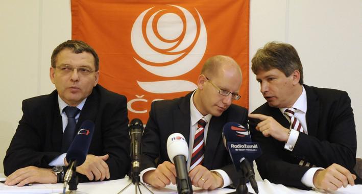 Lubomír Zaorálek, Bohuslav Sobotka a Roman Onderka
