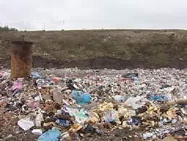 Skládka odpadu v Chotíkově