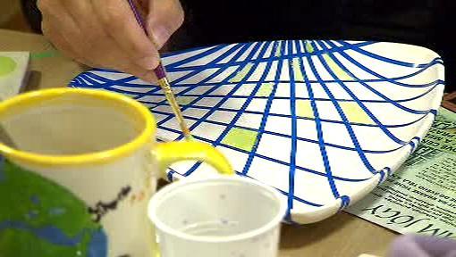 Malování talíře