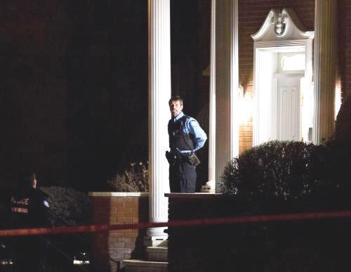 Policie před domem zavražděného Nicola Rizzuta