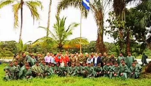 Nikaragujští vojáci na obsazeném kostarickém území