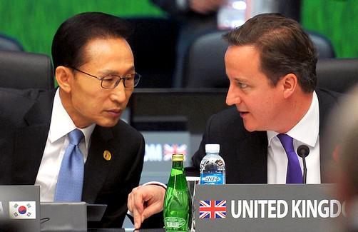 Lee Myung-bak a David Cameron