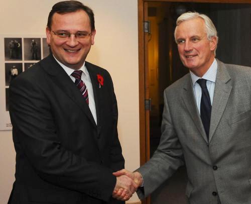 Nečas a Barnier