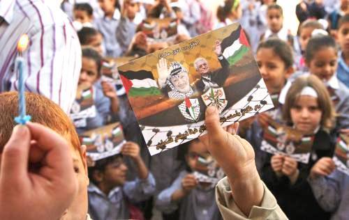 Palestinci si připomínají výročí úmrtí Jásira Arafata