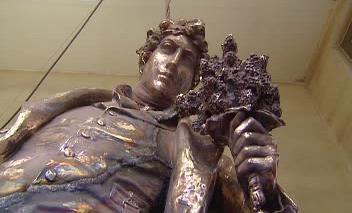 Odlévání Máchovy sochy pro Litoměřice