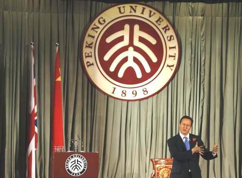 David Cameron na návštěvě Číny