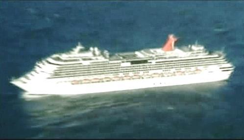 Uvízlá výletní loď Carnival Splendor