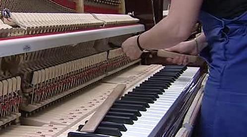 Montáž klavíru