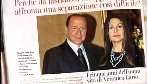 Silvio Berlusconi a Veronica Lariová se rozvádějí