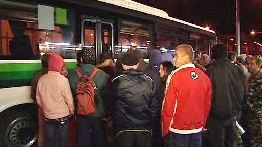 Odjezd rumunských dělníků