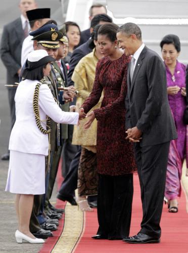 Barack Obama na státní návštěvě Indonésie