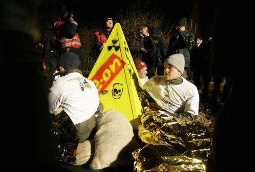 Protesty proti jadernému odpadu