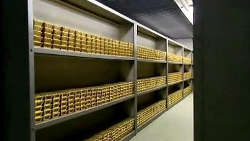 Skladování zlatých cihel
