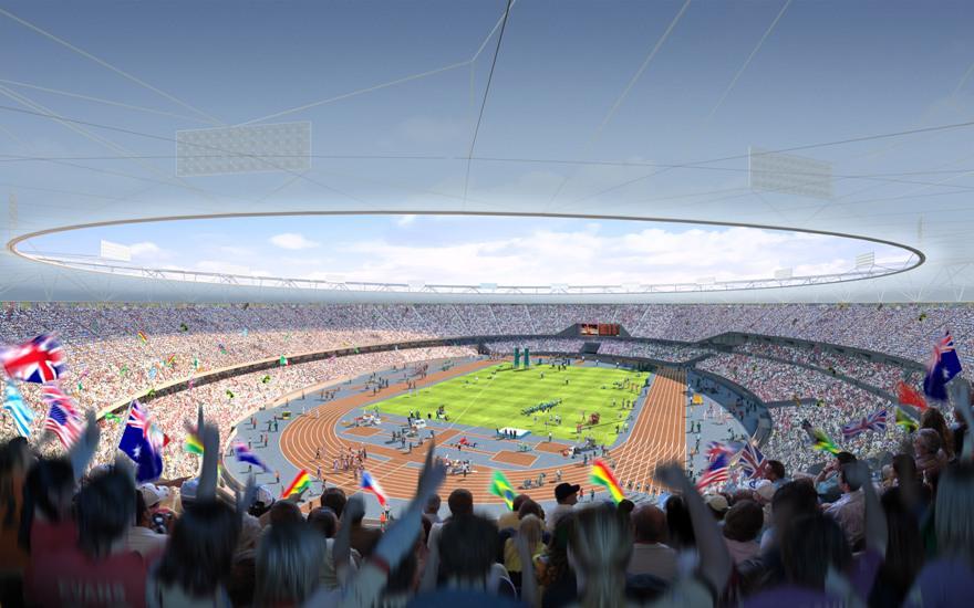 Model olympijského stadionu v Londýně