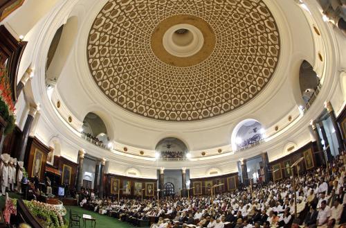 Obama v indickém parlamentu