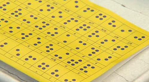 Abeceda v Braillově písmu