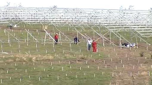 Stavba solární elektrárny