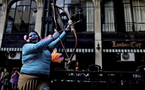 Průvod homosexuálů Gay Pride v Buenos Aires