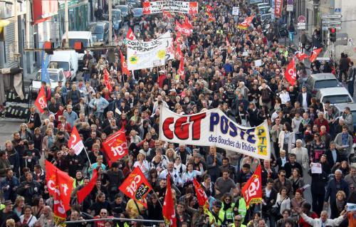 Stávkující Francouzi