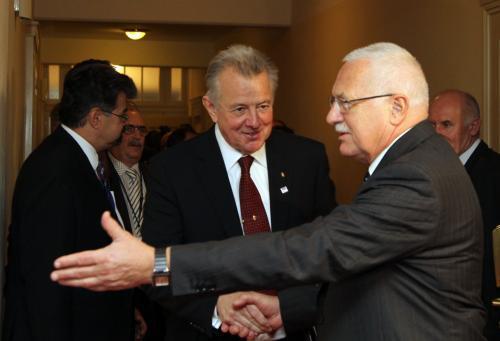 Pál Schmitt s Václavem Klausem