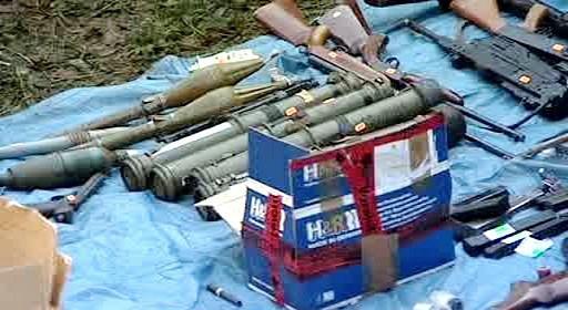 Zbraně a munice zabavená v Bělé nad Svitavou