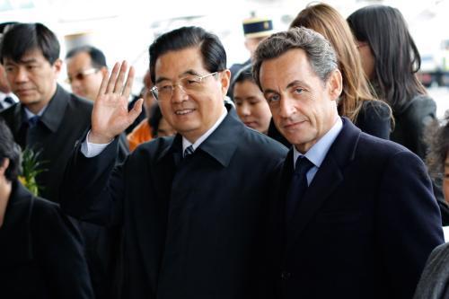 Chu Ťin-Tchao a Nicolas Sarkozy