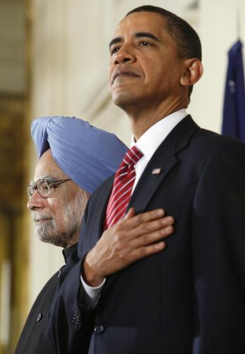 Manmóhan Singh a Barack Obama