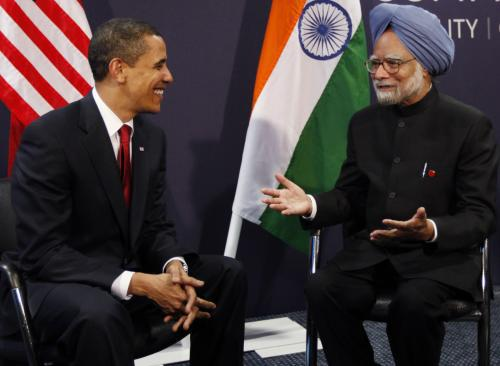 Barack Obama a Manmóhan Singh