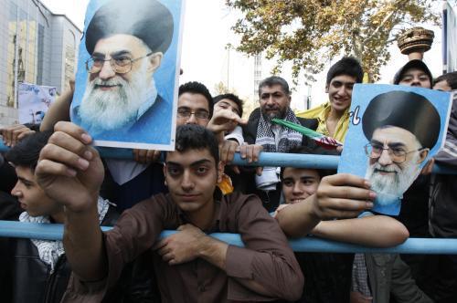 Protiamerická demonstrace v Teheránu
