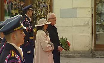 Český prezidentský pár na summitu V4