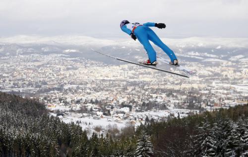Liberecký závod ve skocích na lyžích