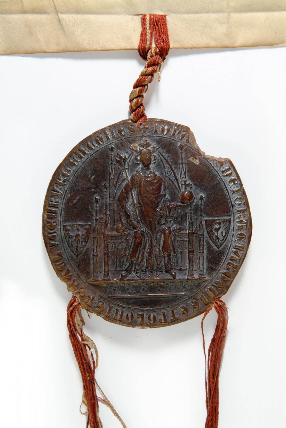 Jezdecká pečeť Jana Lucemburského
